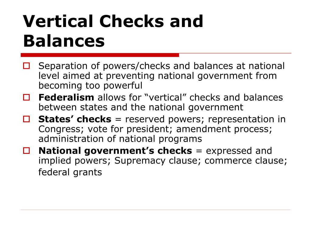 Vertical Checks and Balances