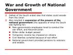 war and growth of national government