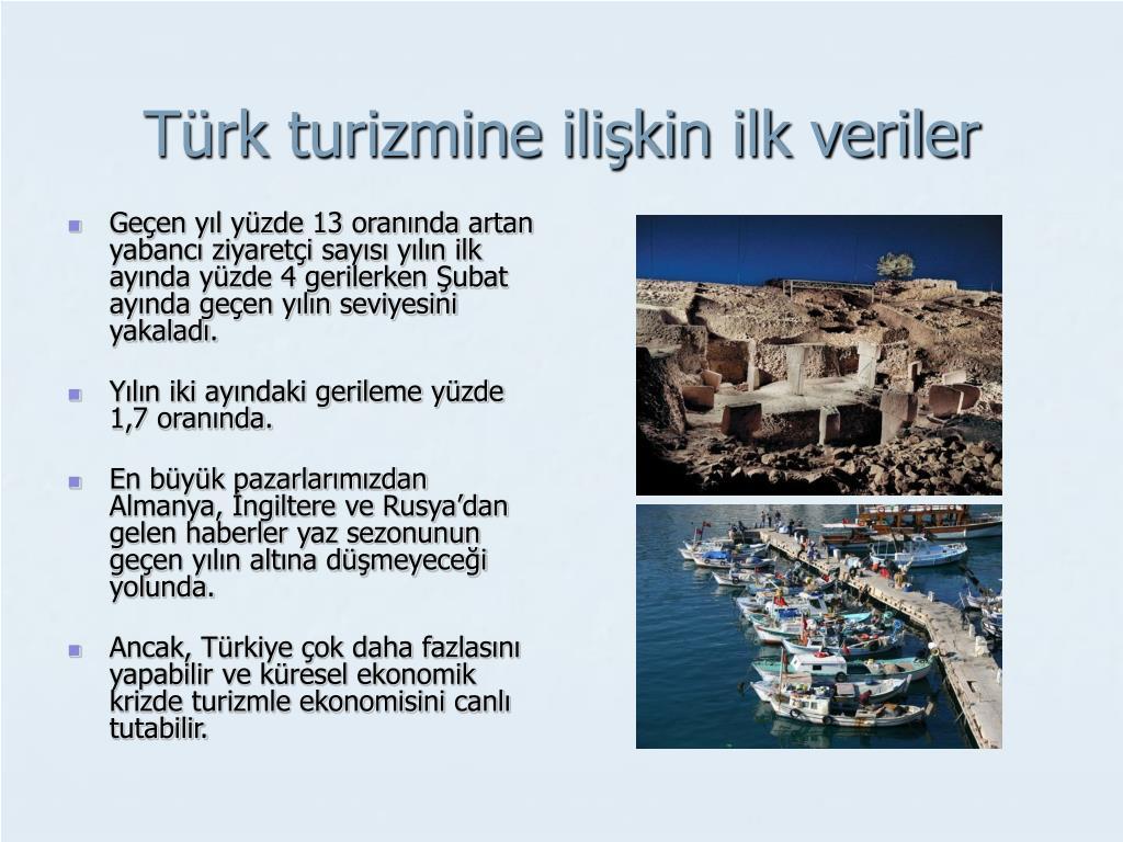Türk turizmine ilişkin ilk veriler