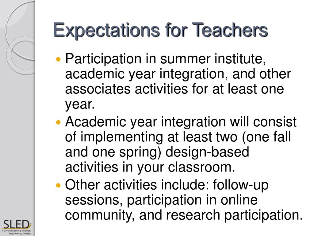 Expectations for Teachers