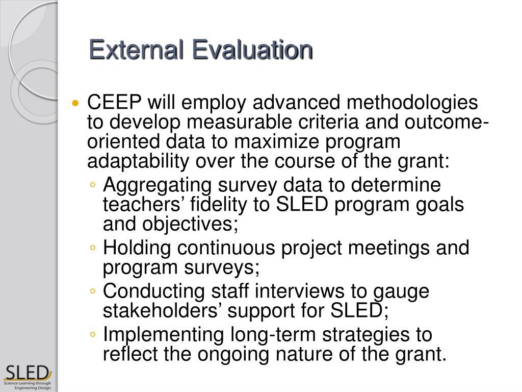 External Evaluation