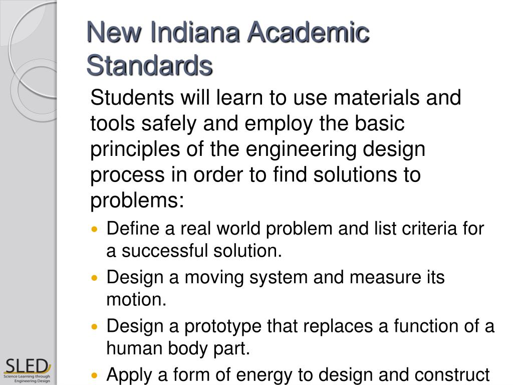 New Indiana Academic Standards