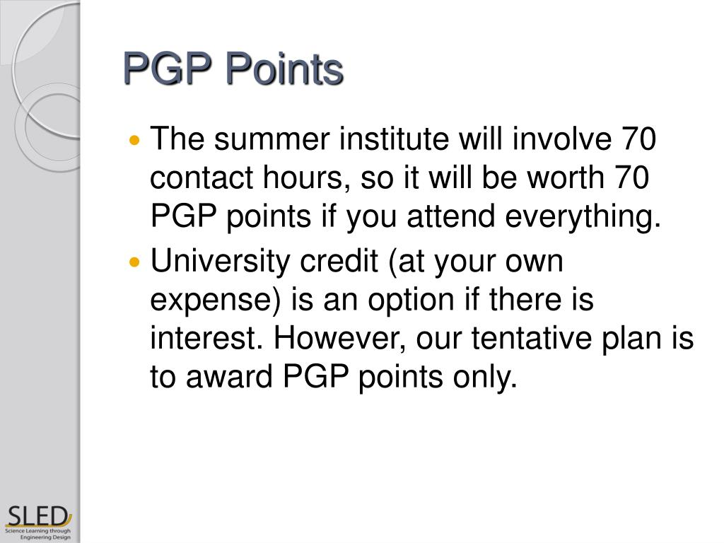 PGP Points