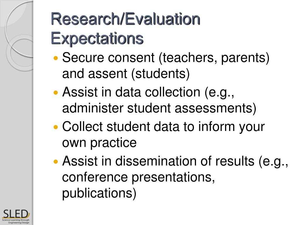 Research/Evaluation Expectations