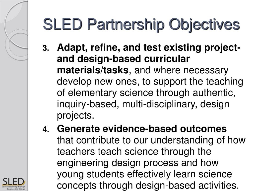 SLED Partnership Objectives
