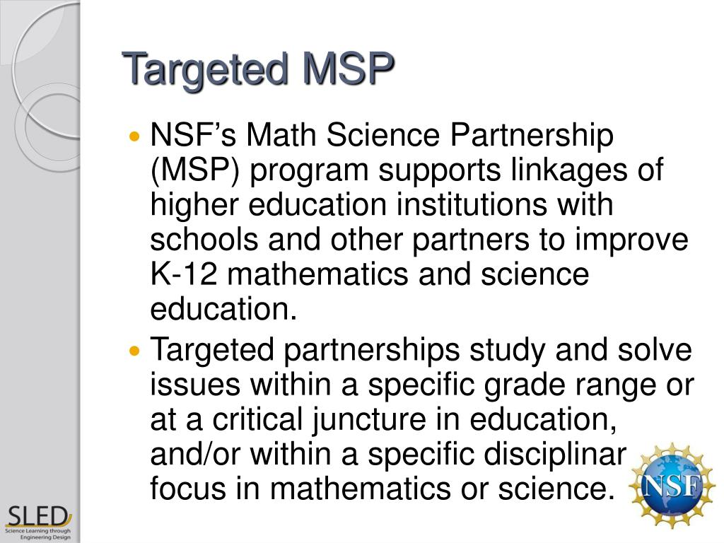 Targeted MSP
