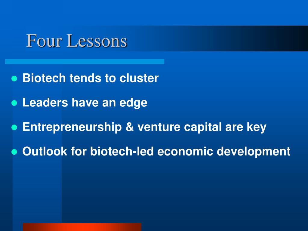 Four Lessons