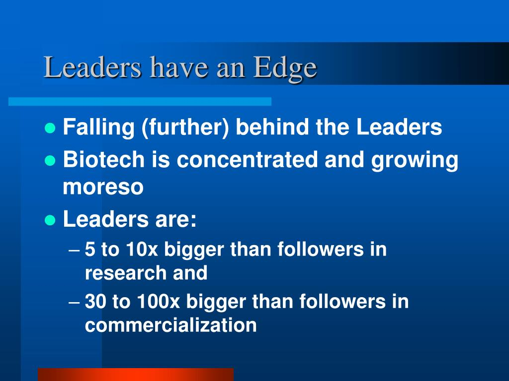 Leaders have an Edge