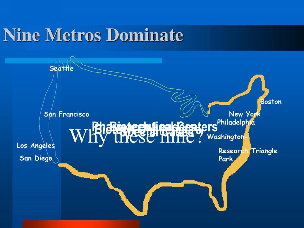 Nine Metros Dominate