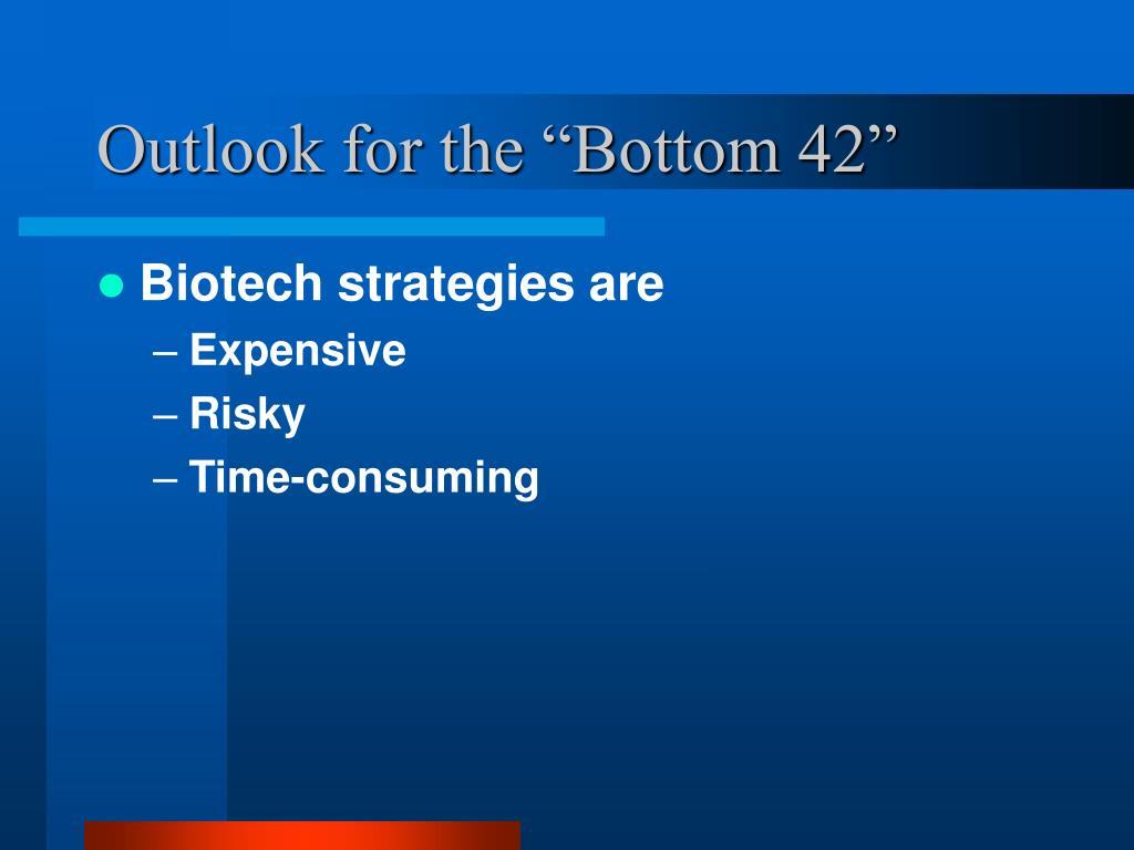 "Outlook for the ""Bottom 42"""