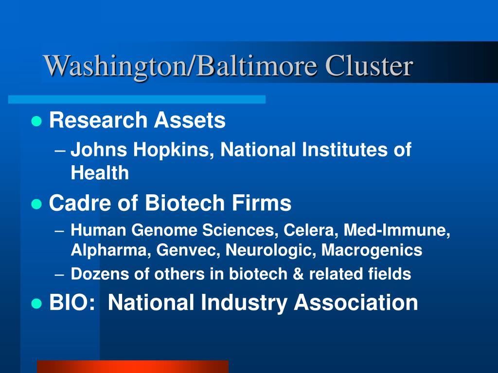 Washington/Baltimore Cluster