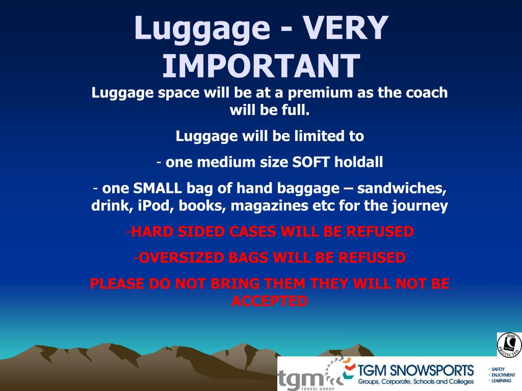 Luggage - VERY IMPORTANT
