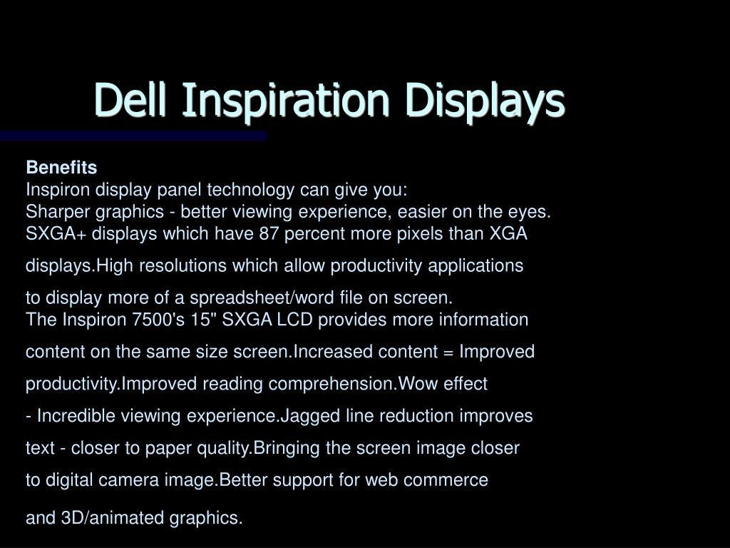 Dell Inspiration Displays