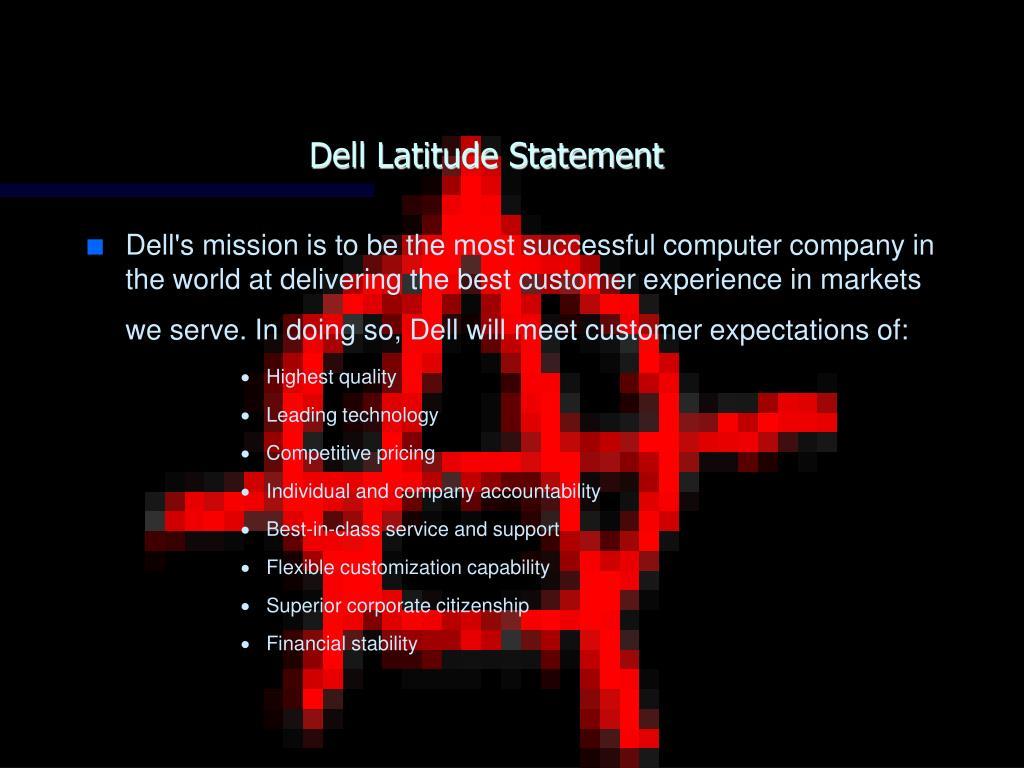 Dell Latitude Statement