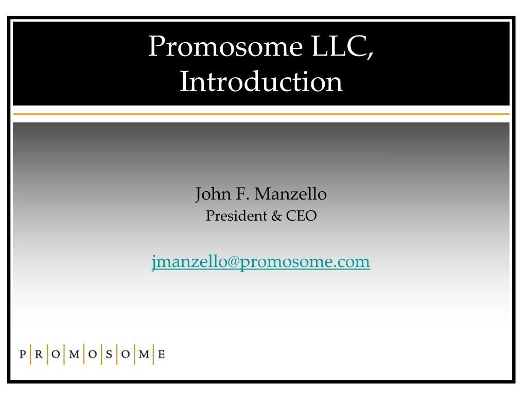 Promosome LLC,