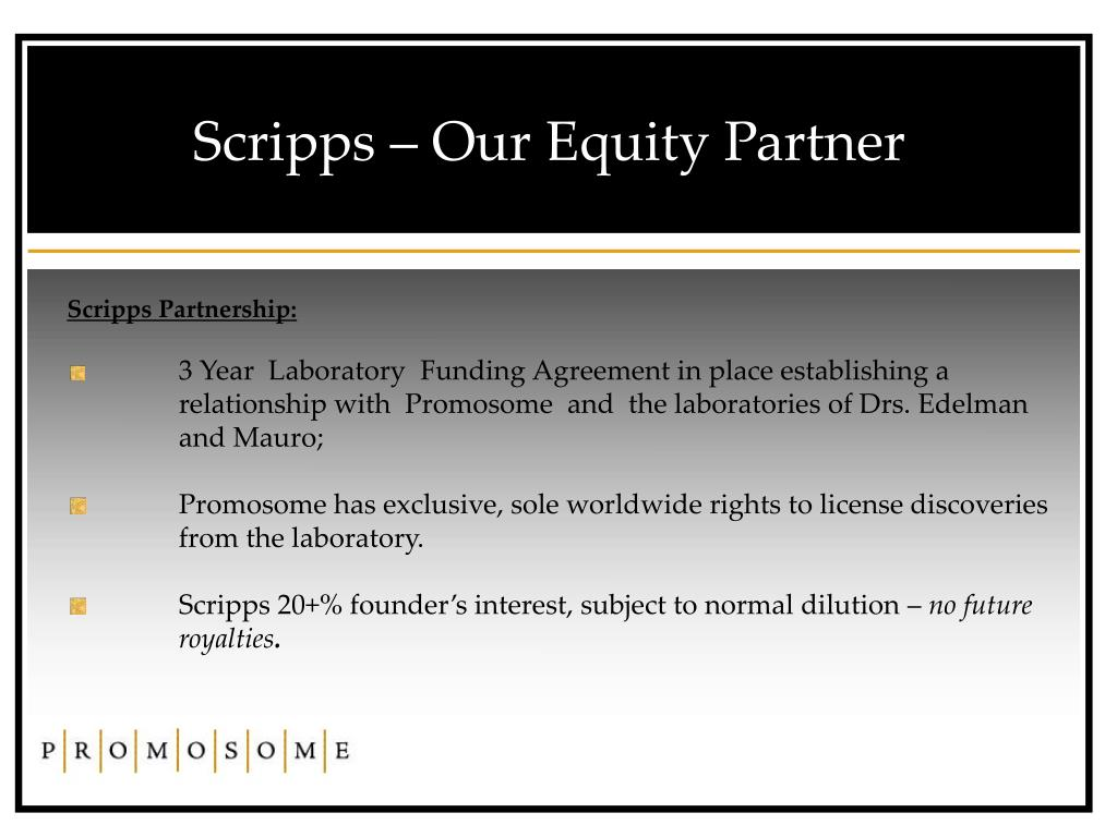 Scripps – Our Equity Partner