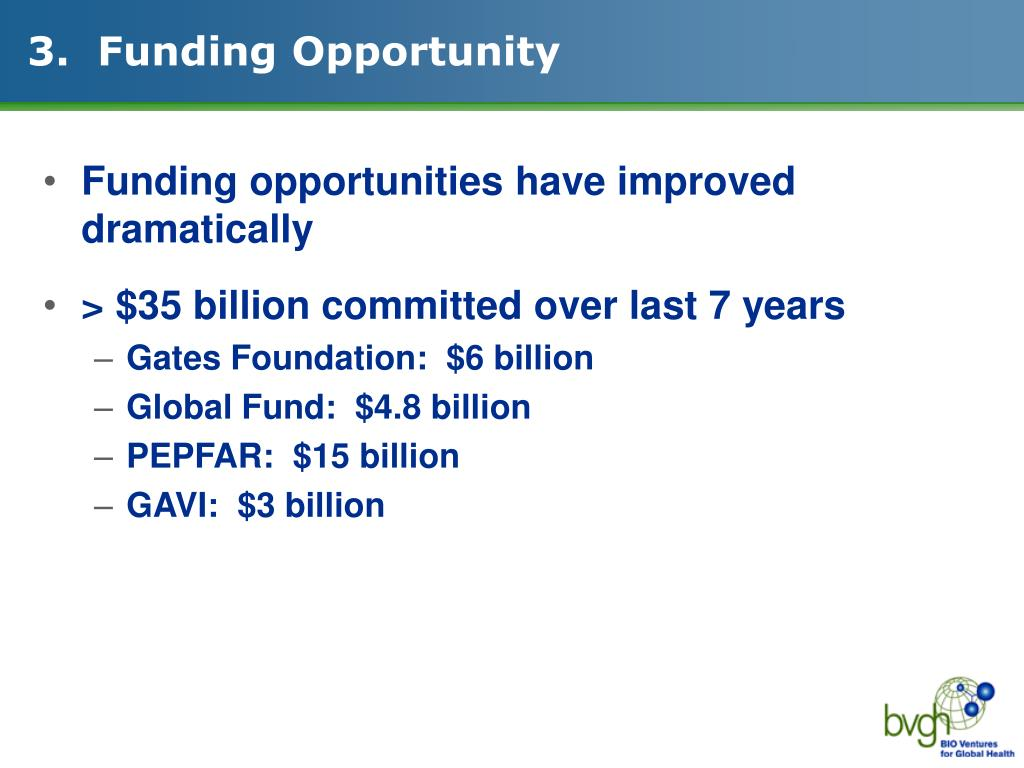 3.  Funding Opportunity