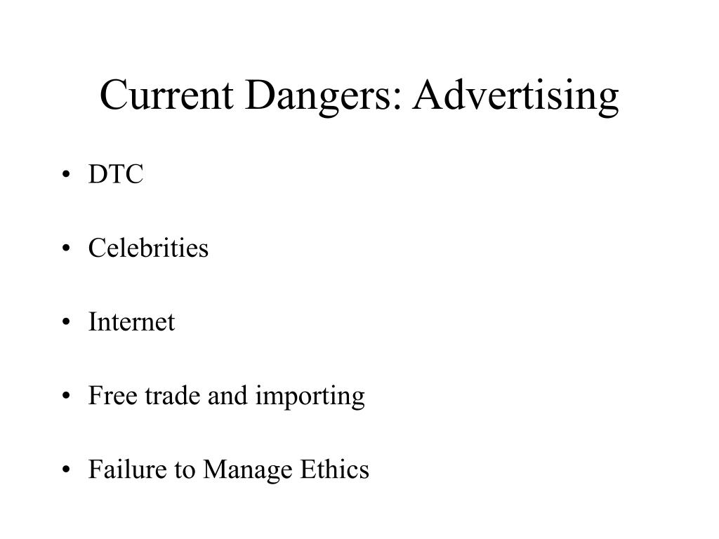 Current Dangers: Advertising