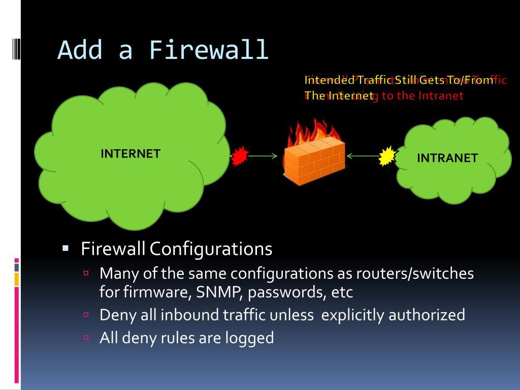Add a Firewall