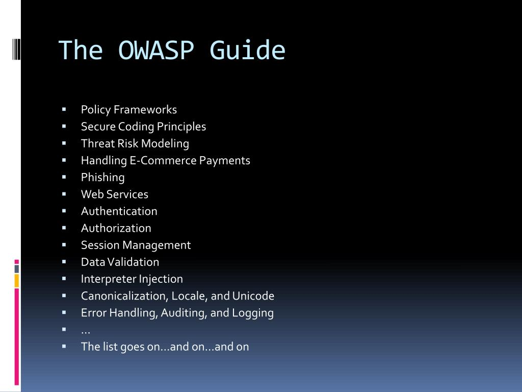 The OWASP Guide