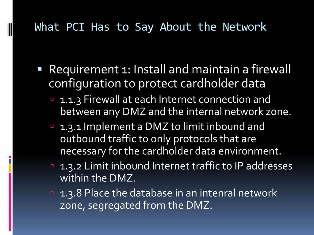 What PCI Has to Say About the Network