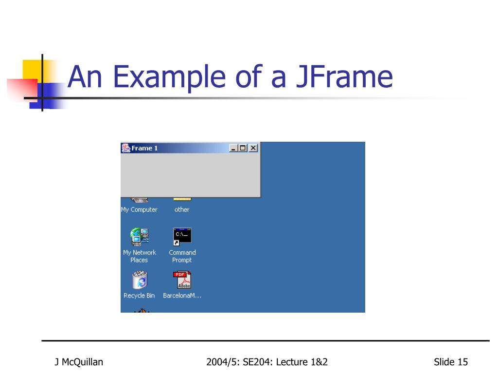 An Example of a JFrame
