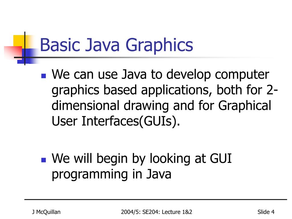 Basic Java Graphics