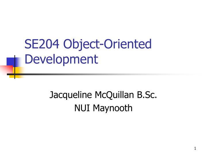 Se204 object oriented development