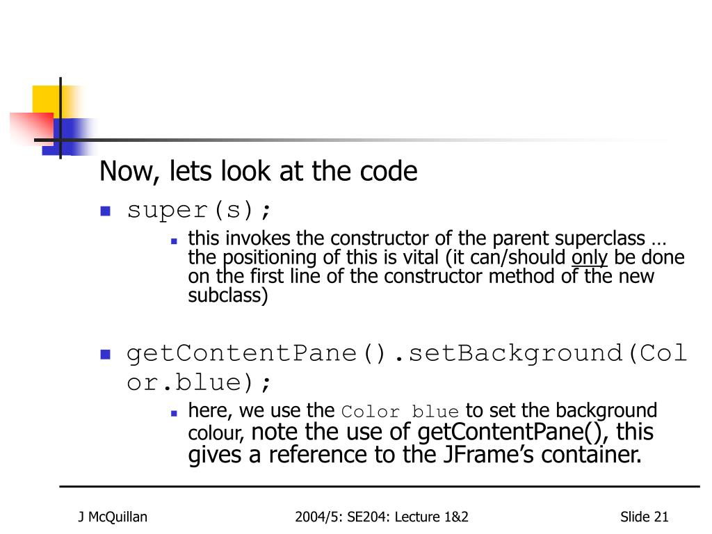 Now, lets look at the code