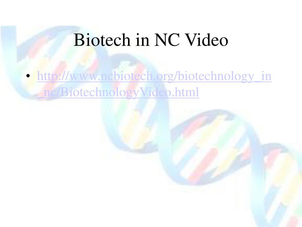 Biotech in NC Video