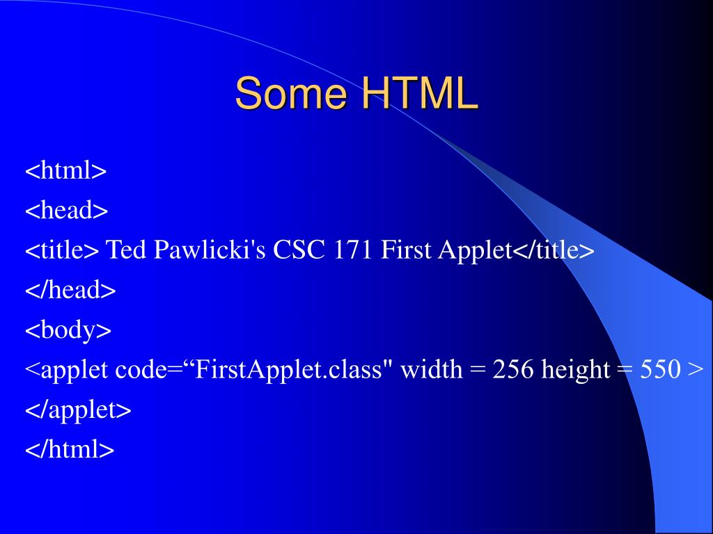 Some HTML