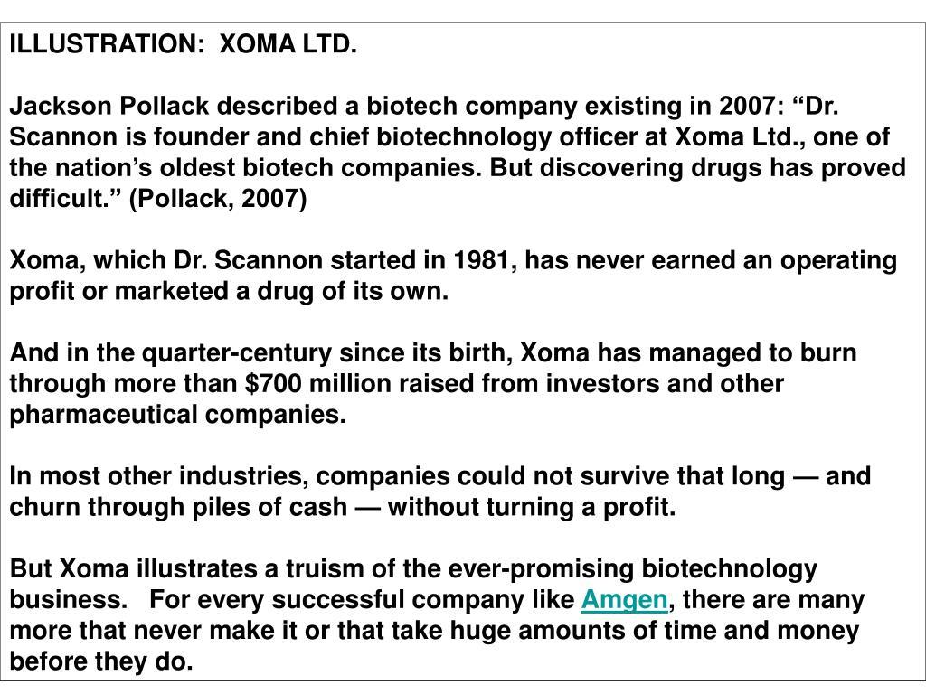 ILLUSTRATION:  XOMA LTD.