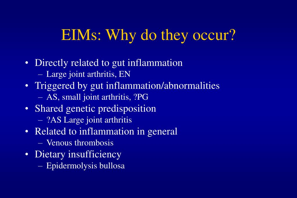 EIMs: Why do they occur?