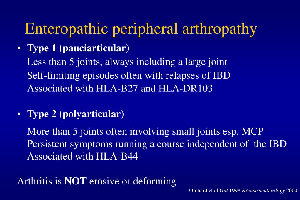 Enteropathic peripheral arthropathy