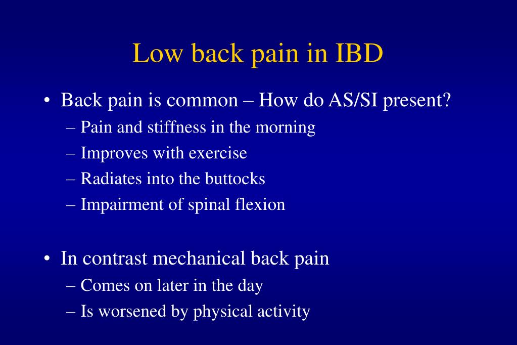 Low back pain in IBD