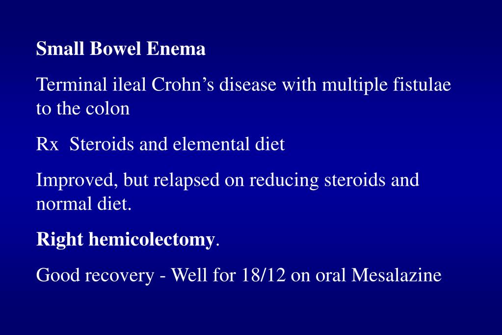 Small Bowel Enema