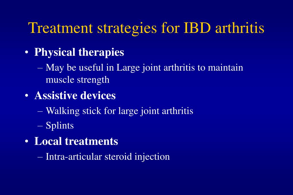 Treatment strategies for IBD arthritis