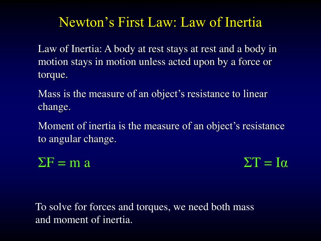 Newton's First Law: Law of Inertia