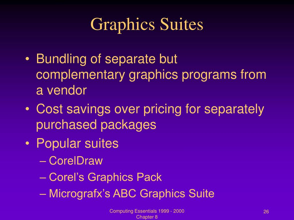 Graphics Suites