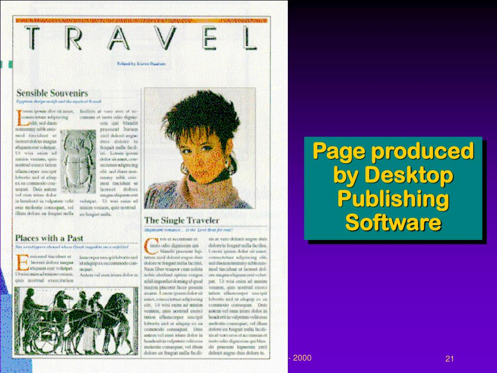 Page produced by Desktop Publishing Software