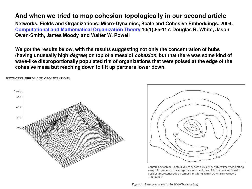 And when we tried to map cohesion topologically in our second article