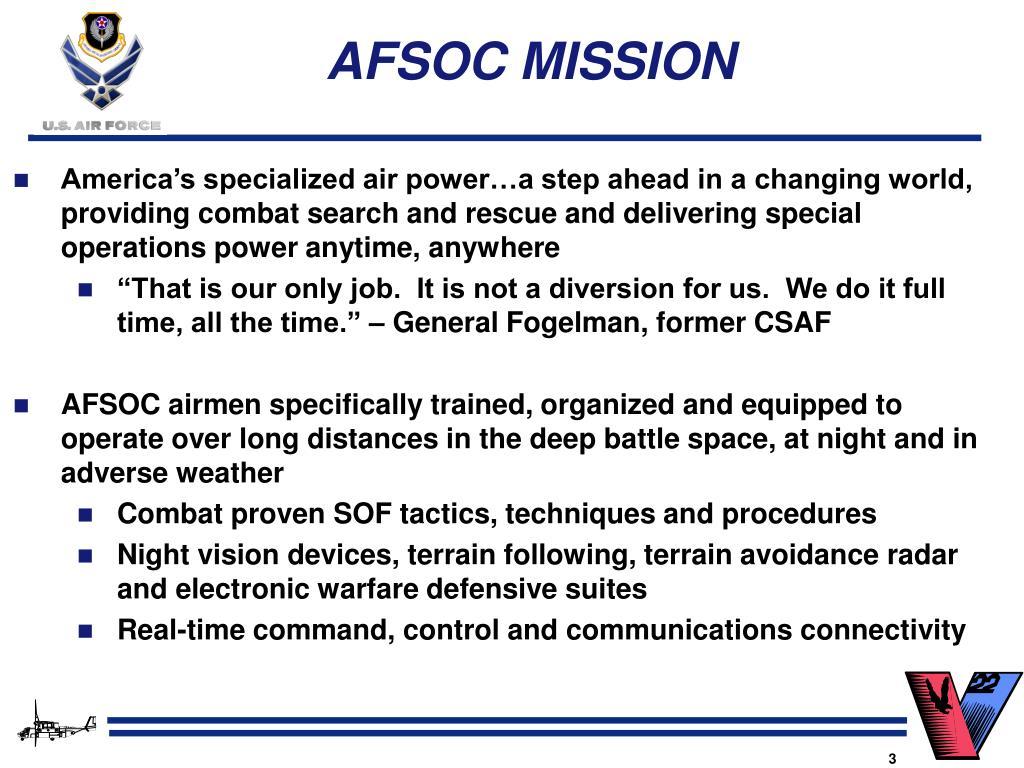 AFSOC MISSION