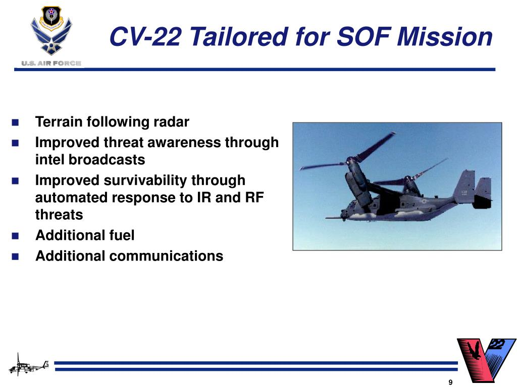 CV-22 Tailored for SOF Mission