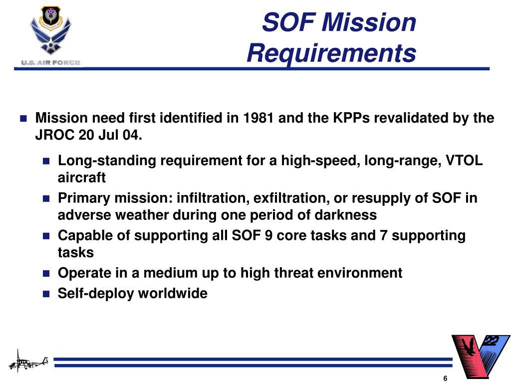 SOF Mission