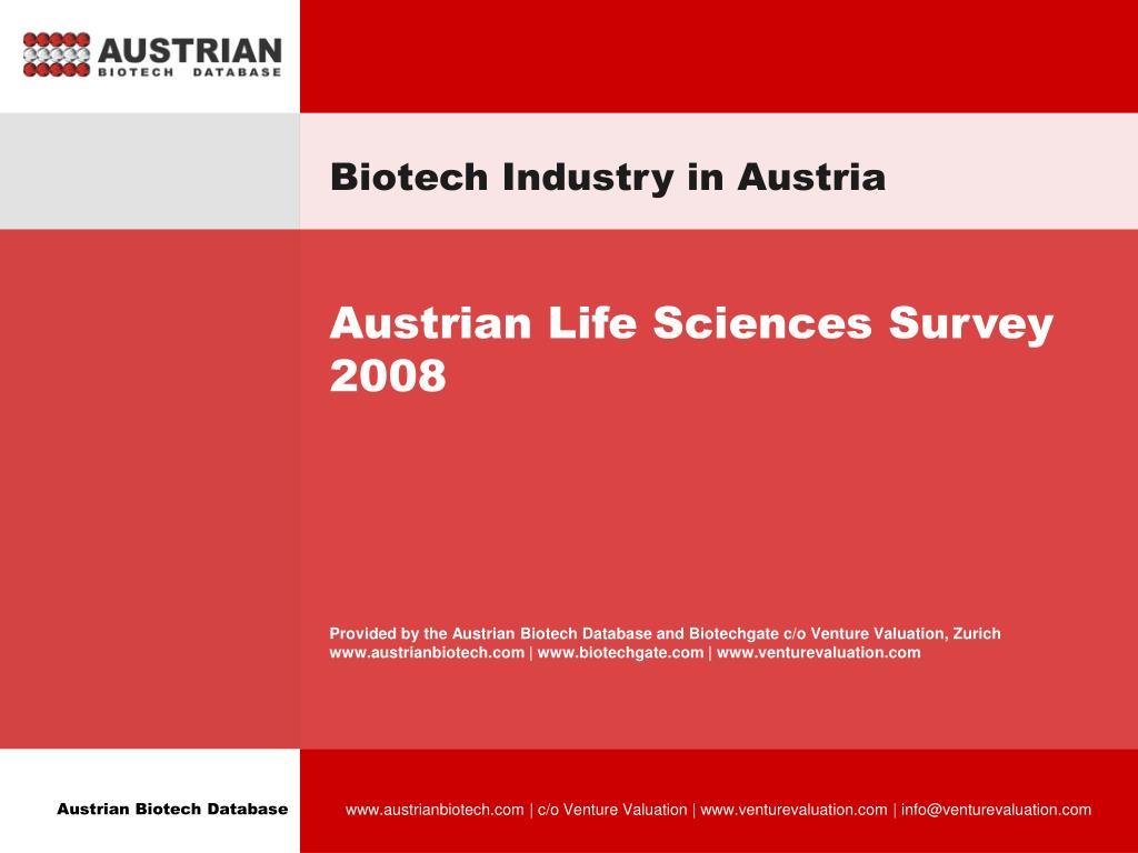 Biotech Industry in Austria