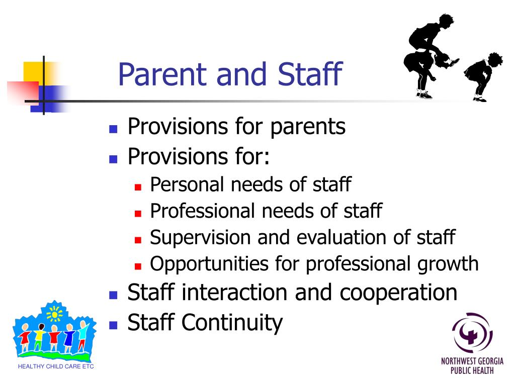 Parent and Staff