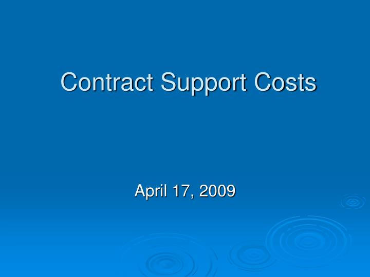 Contract support costs l.jpg