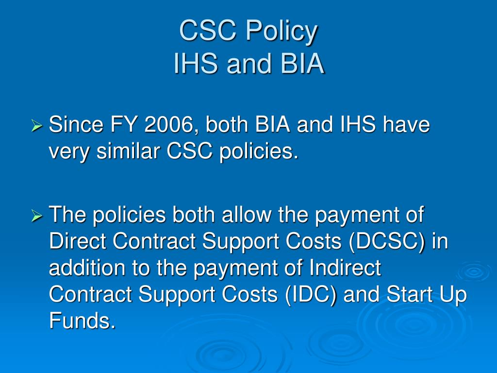 CSC Policy