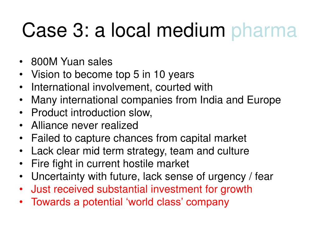 Case 3: a local medium