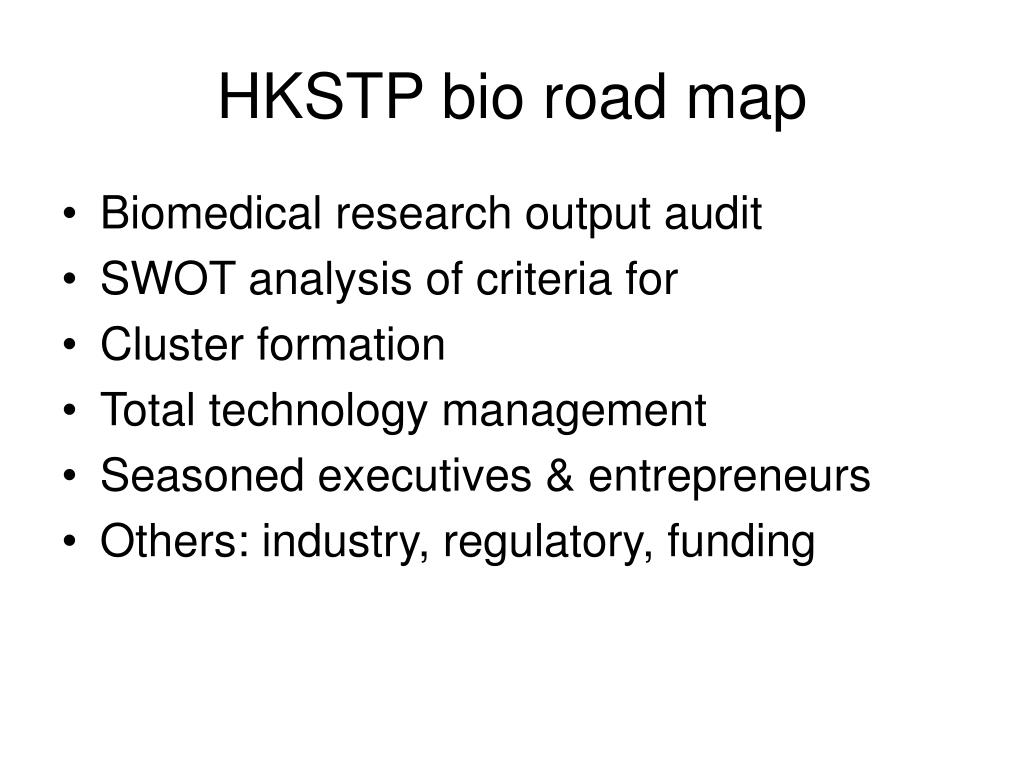 HKSTP bio road map